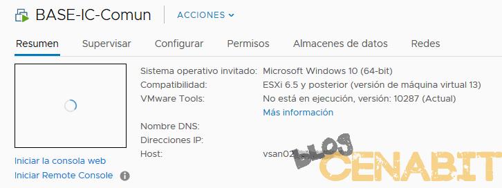 Forzar el reinicio de una VM que no responde en vSphere